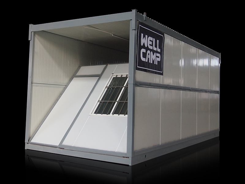 house folding container house expandable WELLCAMP, WELLCAMP prefab house, WELLCAMP container house