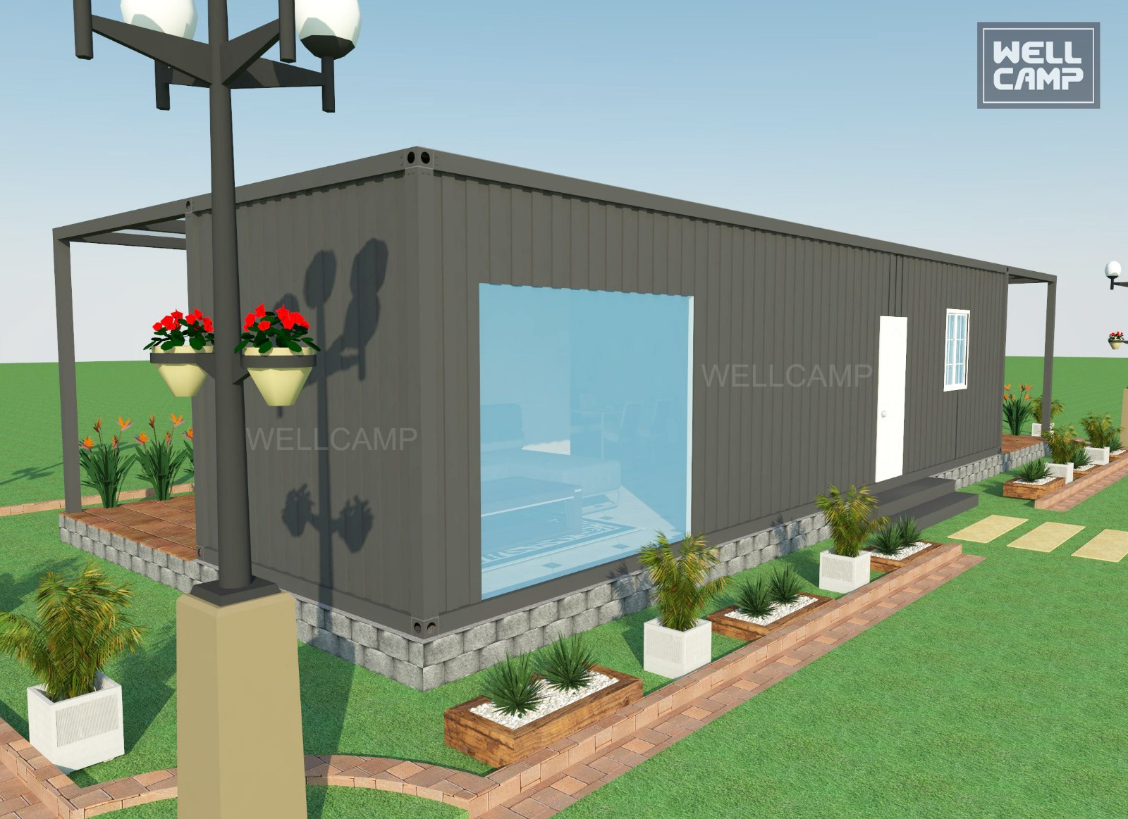 customized light steel villa light luxury living container villa suppliers premade WELLCAMP, WELLCAMP prefab house, WELLCAMP con