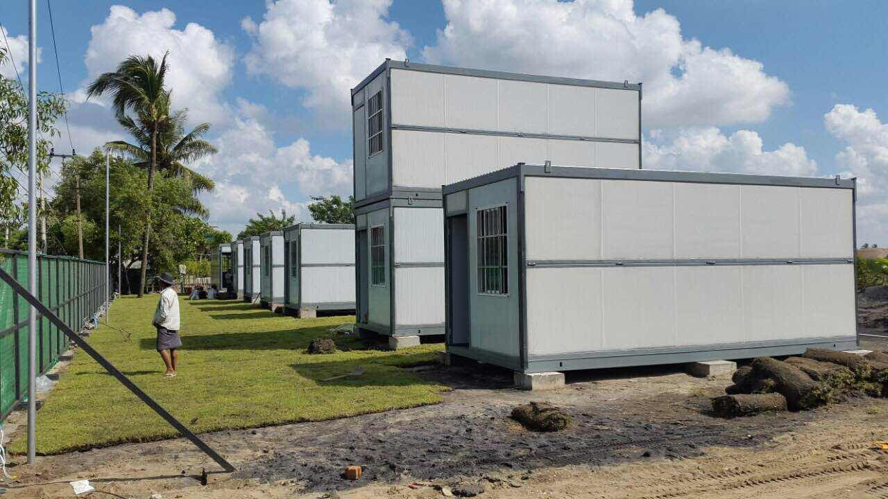 Rock Wool Sandwich Panel Folding Container House In Outdoor, Wellcamp F-6