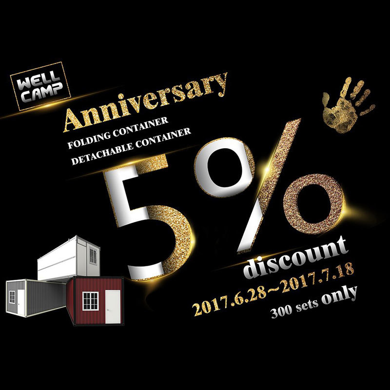 Wellcamp Anniversary Offers 5 Point Discount