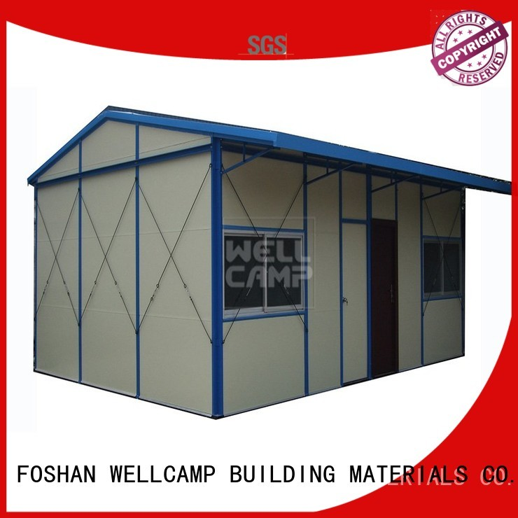 WELLCAMP, WELLCAMP prefab house, WELLCAMP container house Brand prefabricated galvanized low prefab houses