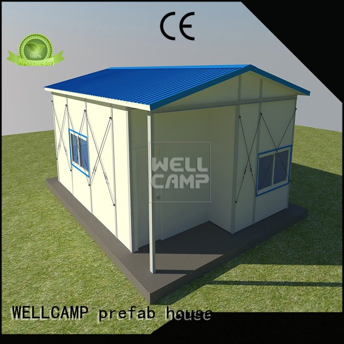 WELLCAMP, WELLCAMP prefab house, WELLCAMP container house recyclable three prefab houses