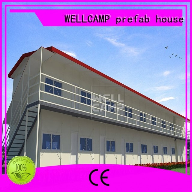 WELLCAMP, WELLCAMP prefab house, WELLCAMP container house Brand prefab worker green customized prefab houses