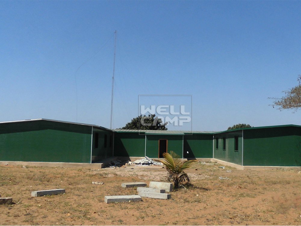 WELLCAMP, WELLCAMP prefab house, WELLCAMP container house Modern Prefabricated House For Classroom In Mozambique Project, Wellcamp K-16 K Prefabricated House image23