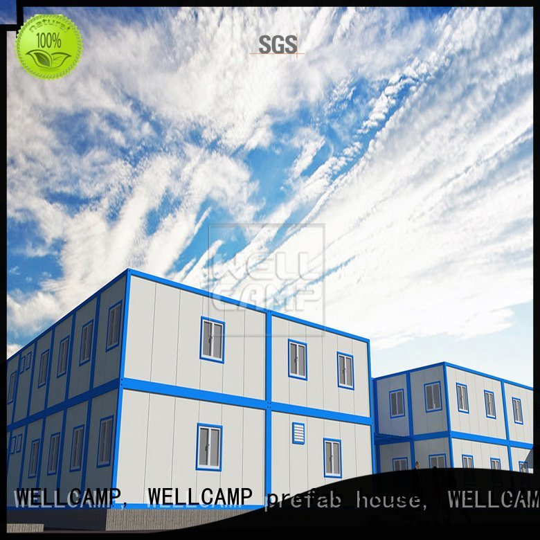 WELLCAMP, WELLCAMP prefab house, WELLCAMP container house cost homes detachable container house c6 recyclable