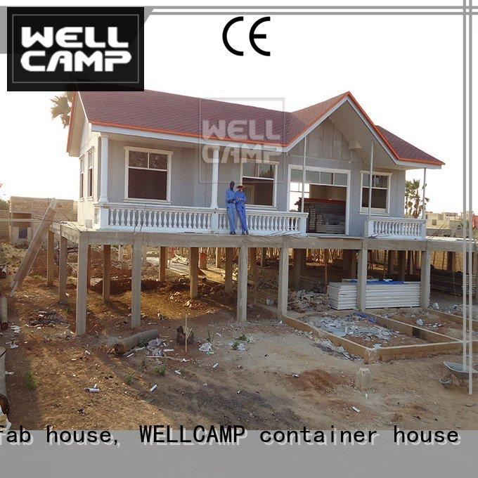 Prefabricated Concrete Villa style modular house WELLCAMP, WELLCAMP prefab house, WELLCAMP container house Brand