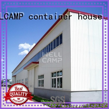 WELLCAMP, WELLCAMP prefab house, WELLCAMP container house Brand workshop customized custom prefab warehouse