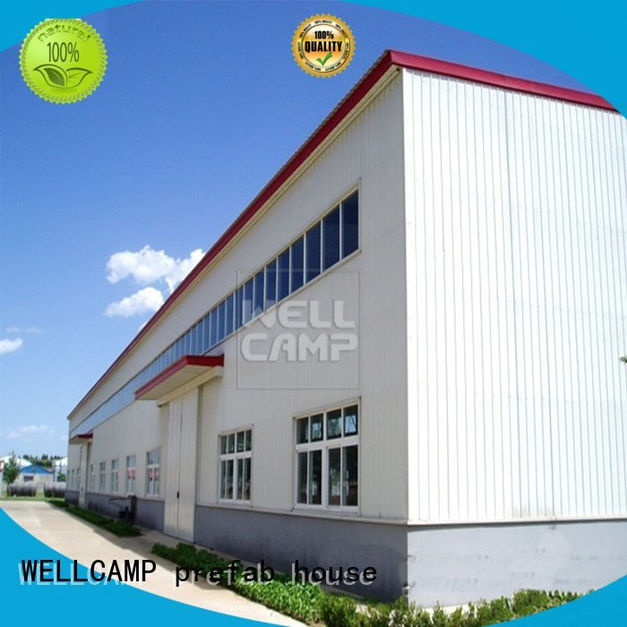 Hot prefab warehouse sandwich steel warehouse brick