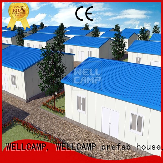 WELLCAMP, WELLCAMP prefab house, WELLCAMP container house Brand security panel modular prefabricated house suppliers green
