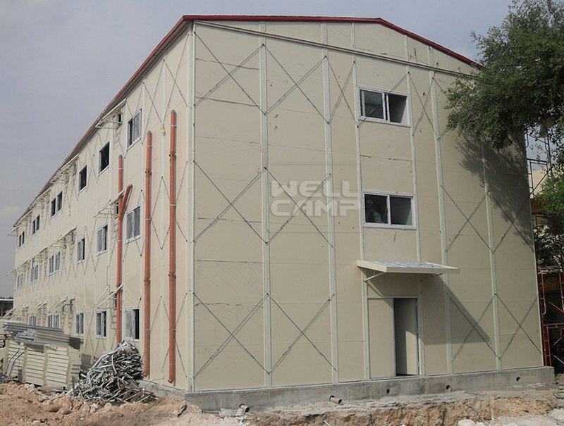 Three Floor Prefabricated Modular Houses In Qatar Project, Wellcamp K-17