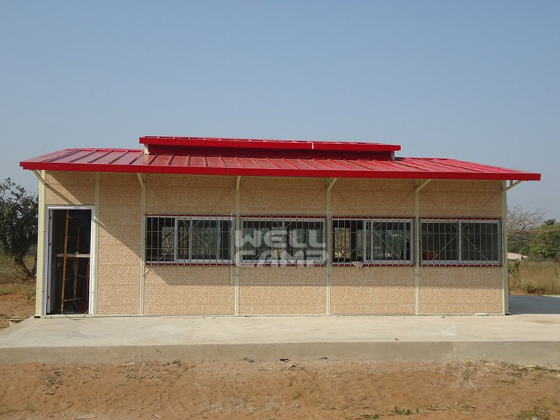 Modern Prefabricated House For Classroom In Mozambique Project, Wellcamp K-16