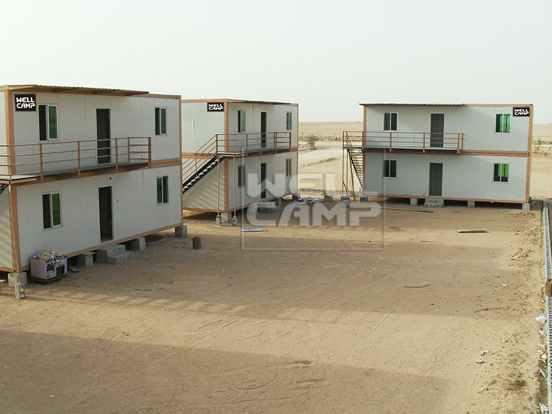 Mobile portable two floor prefab container house in Qatar project, Wellcamp C-16