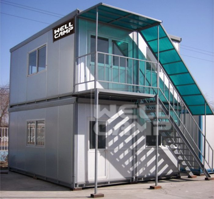 Two Floor Flat Pack Container House For Office, Wellcamp C-7