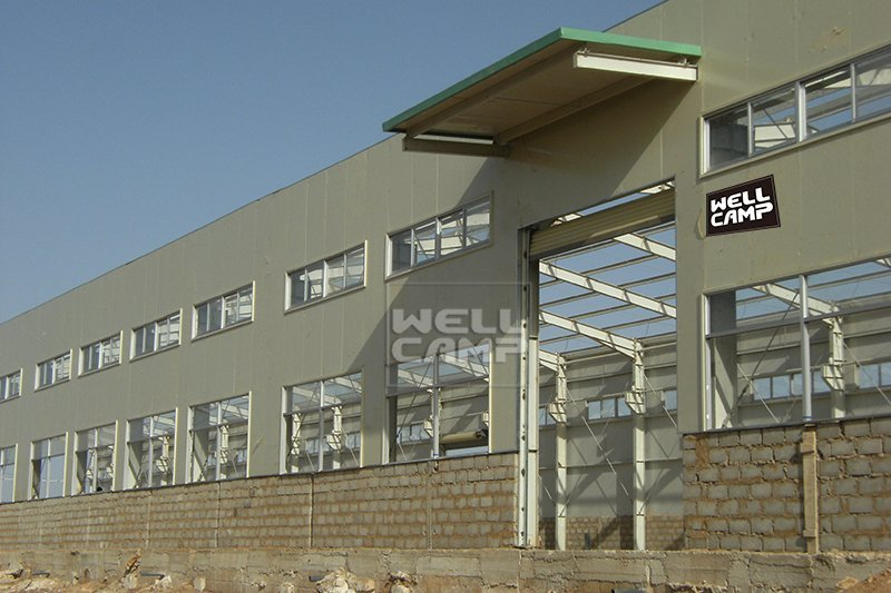 Customized steel structure building for chicken shed in Dakar, Wellcamp S-6