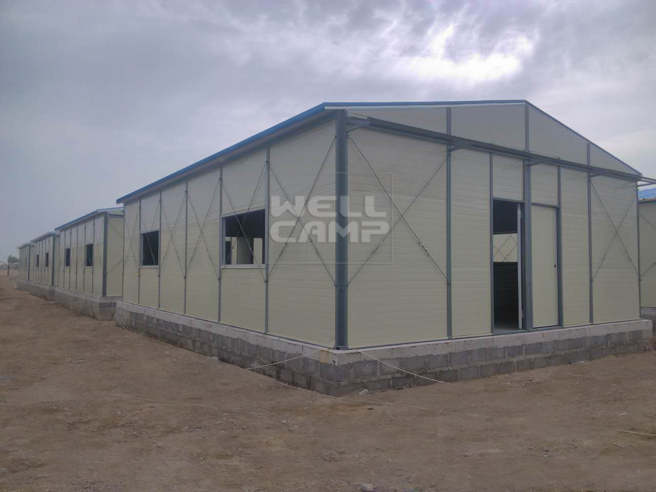 Wellcamp Rock Wool Steel Prefab House in Oman Project