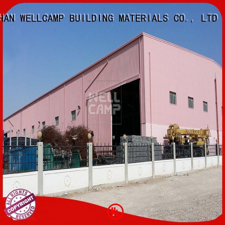 sheet steel workshop prefab warehouse WELLCAMP, WELLCAMP prefab house, WELLCAMP container house manufacture