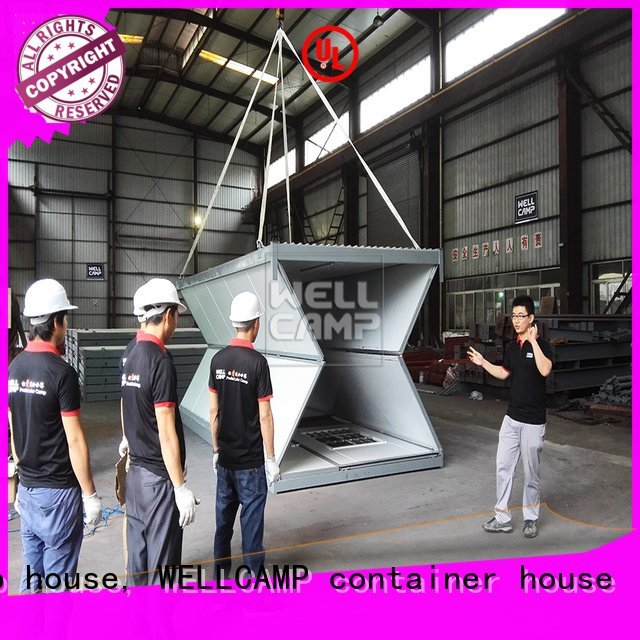 sandwich f8 eco foldable container house WELLCAMP, WELLCAMP prefab house, WELLCAMP container house
