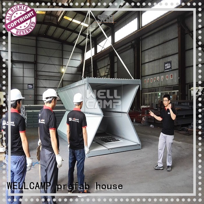 prefab folding container house f8 WELLCAMP, WELLCAMP prefab house, WELLCAMP container house company
