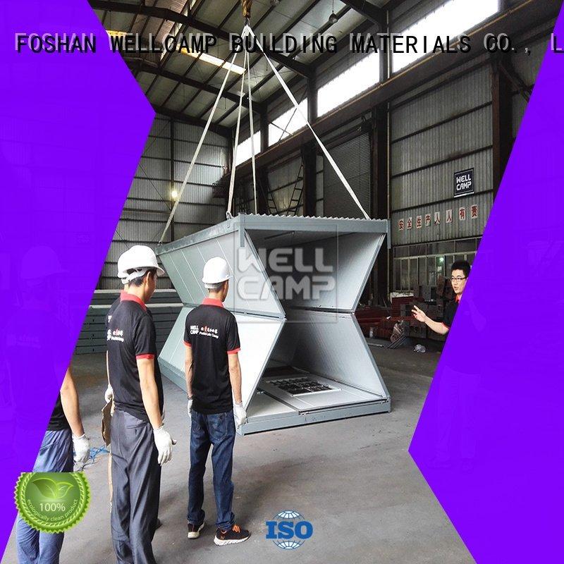 WELLCAMP, WELLCAMP prefab house, WELLCAMP container house folding folding container house c16 f6