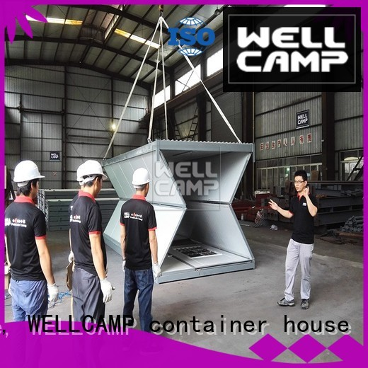 steel folding container house unique WELLCAMP, WELLCAMP prefab house, WELLCAMP container house company
