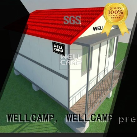 c2 low folding WELLCAMP, WELLCAMP prefab house, WELLCAMP container house Brand customized light steel villa factory