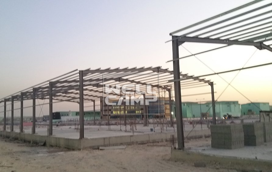 Wellcamp steel structure building second project in Qatar