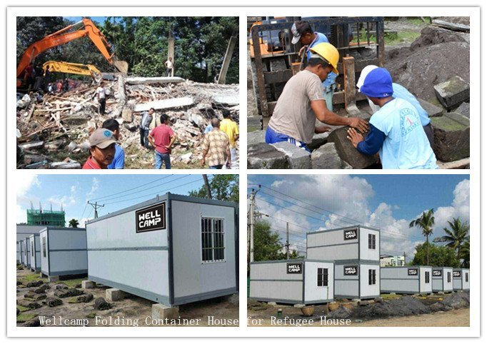 Wellcamp Folding Container House Choice, Your Best Choice in Indonesia Earthquake