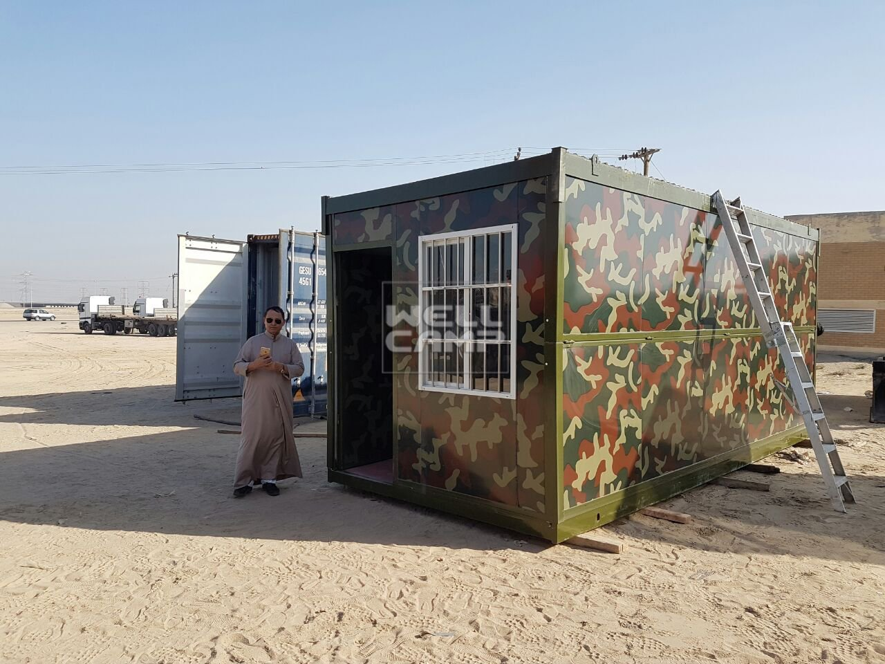 Wellcamp Prefab Expandable Container Cabin Project in Kuwait
