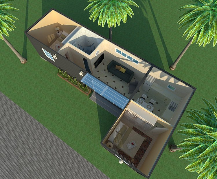 Eco-Friendly Light Steel Container Villa, Wellcamp C-1