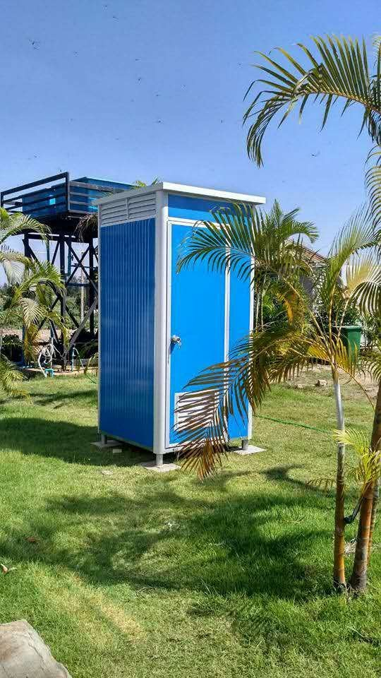 Easy Move Prefab Mobile Toilet for Outdoor Working, Wellcamp T-1