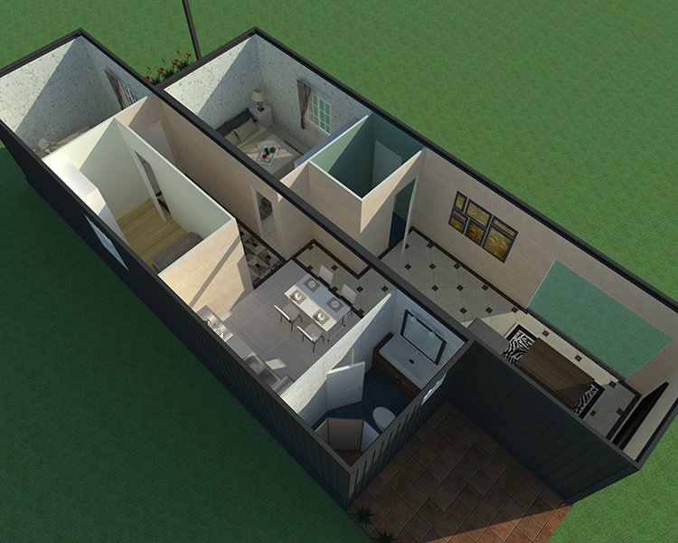 Wellcamp Light Steel Container Villa Low Cost, Wellcamp C-2