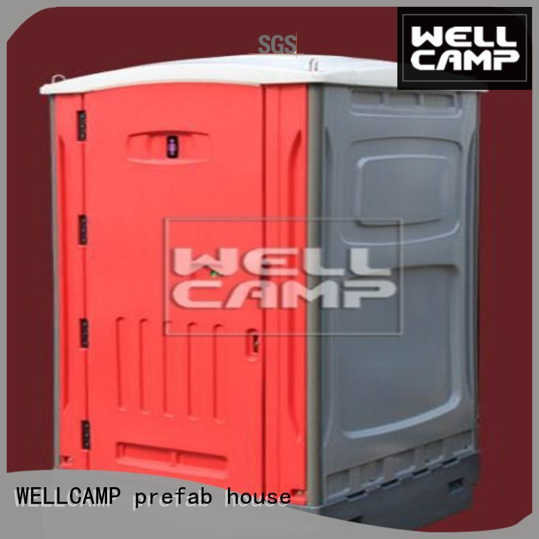 double prefabricated luxury portable toilets WELLCAMP, WELLCAMP prefab house, WELLCAMP container house Brand