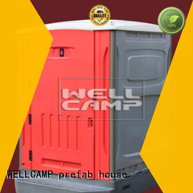 luxury portable toilets double decoration working aluminum