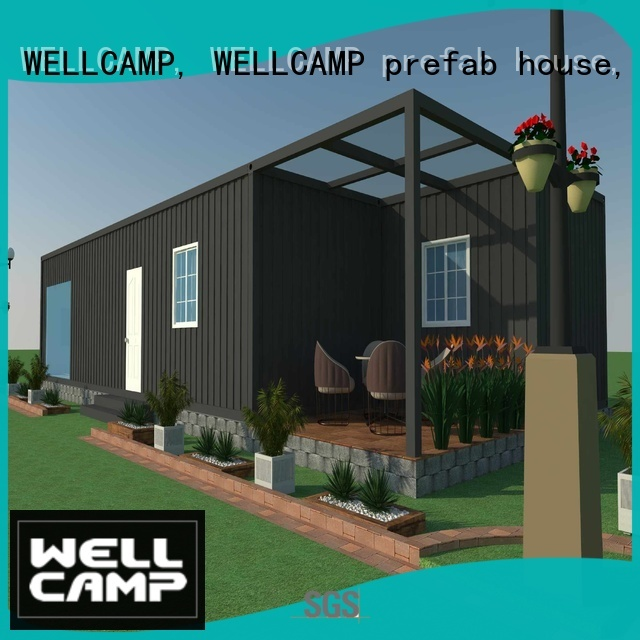 Quality WELLCAMP, WELLCAMP prefab house, WELLCAMP container house Brand ecofriendly luxury living container villa suppliers