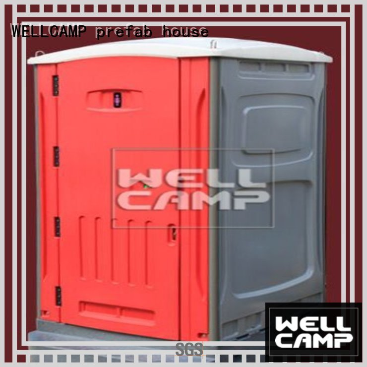 movable sheet mobile WELLCAMP, WELLCAMP prefab house, WELLCAMP container house Brand luxury portable toilets manufacture