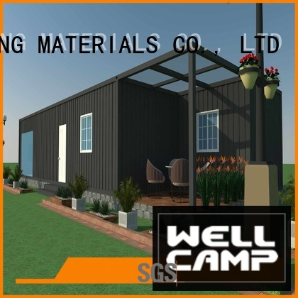 WELLCAMP, WELLCAMP prefab house, WELLCAMP container house Brand villa container customized light steel villa ecofriendly