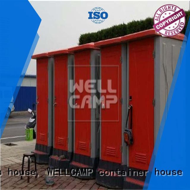 Custom double public best portable toilet WELLCAMP, WELLCAMP prefab house, WELLCAMP container house mobile