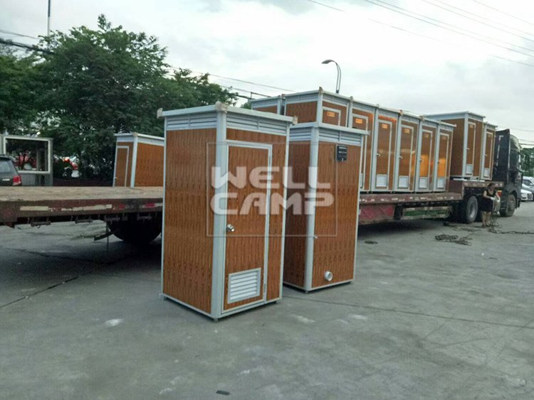 Aluminum Decoration Sheet Mobile Container Public Toilet, Wellcamp T-5