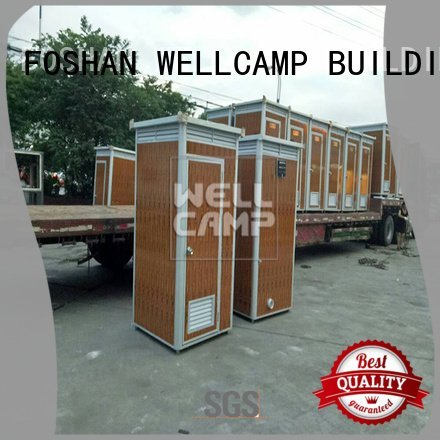 WELLCAMP, WELLCAMP prefab house, WELLCAMP container house Brand working luxury portable toilets movable t1