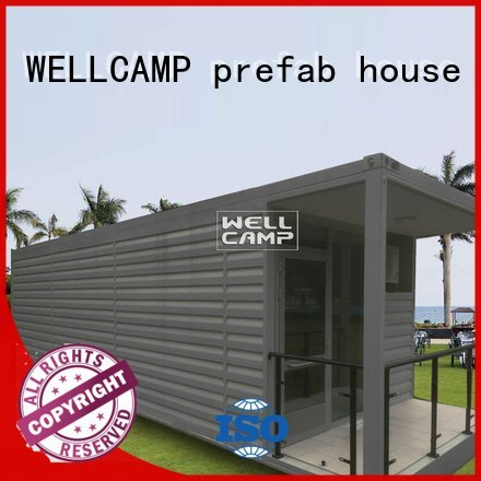 shipping container house for villa resort PVC tile modern shipping container house Brand