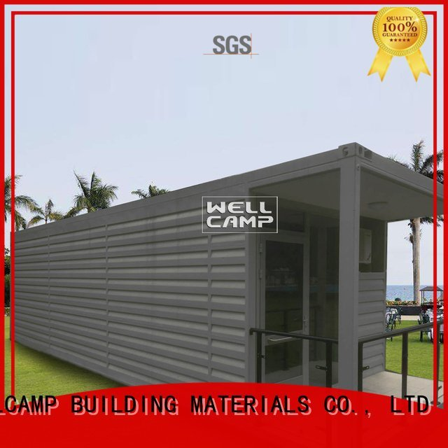 WELLCAMP, WELLCAMP prefab house, WELLCAMP container house Brand Fire proof door PVC tile FC board shipping container house for v
