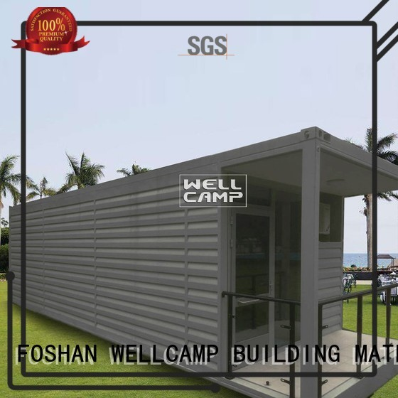 PVC tile Fire proof door WELLCAMP, WELLCAMP prefab house, WELLCAMP container house Brand shipping container house for villa resort factory
