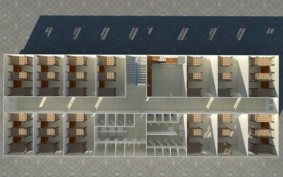 Dorm room plan