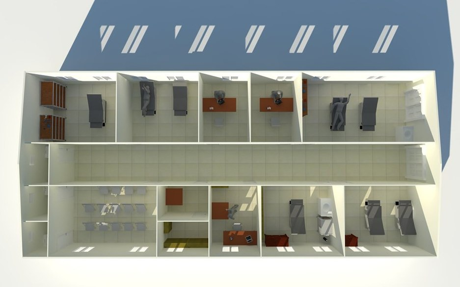 Clinic front elevation plan