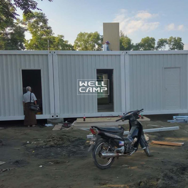 New Design Economic Prefabricated Container House For Office, Wellcamp D-9