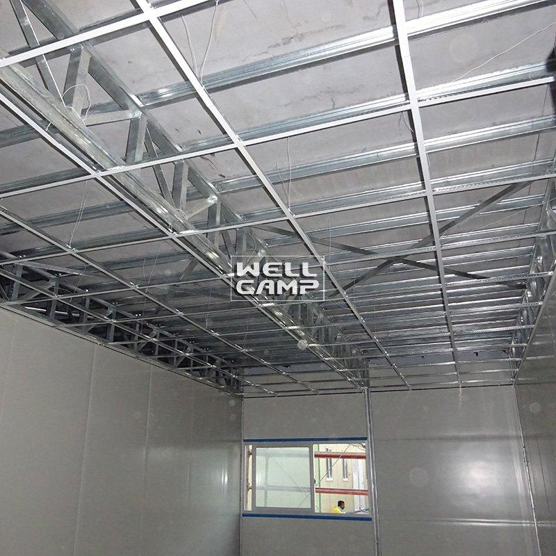 Rock Wool Sandwich Panel Galvanized Steel Prefab House , Wellcamp K-2