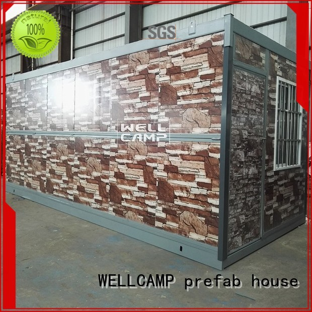 unique low container WELLCAMP, WELLCAMP prefab house, WELLCAMP container house Brand foldable container house manufacture