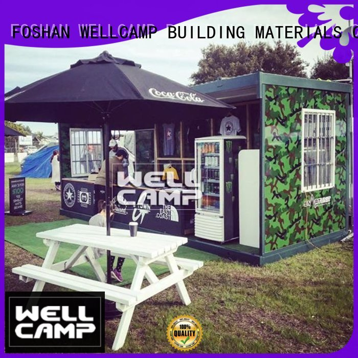 WELLCAMP, WELLCAMP prefab house, WELLCAMP container house Brand wellcamp outdoor rock folding container house manufacture