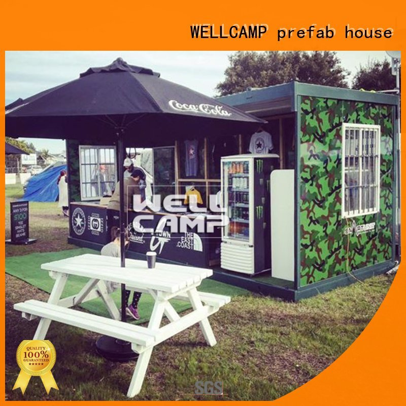Quality foldable container house WELLCAMP, WELLCAMP prefab house, WELLCAMP container house Brand eco folding container house
