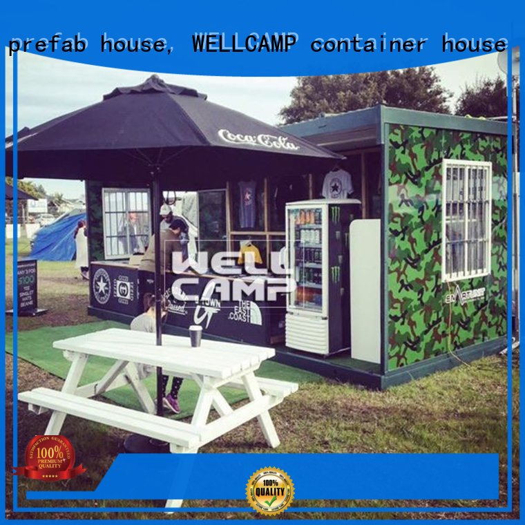 WELLCAMP, WELLCAMP prefab house, WELLCAMP container house Brand easy prefabricated friendly foldable container house